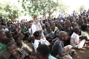 Madona and Malawi School Children