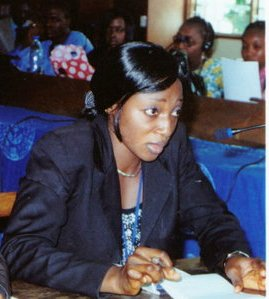 Patience Agwenjang. Giving youths and women a helping hand