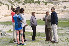 Obama and family visit Robben Island
