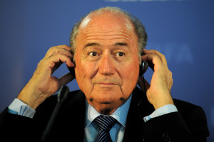 Sepp Blatter. Money bags