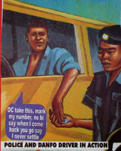 Driver gives traffic police bribe
