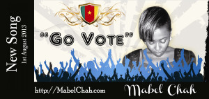 """""""Go Vote"""". The song poster"""