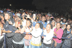 Fans turned up in numbers to watch the duo