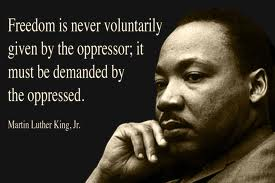 Martin Lurther King. Obama achieved his dream but for millions of black Americans. the fight continues
