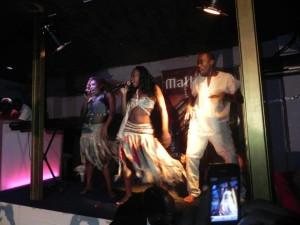 MabSTAR belts a new song on stage