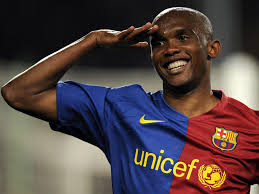 Eto'o Smiles, Salutes and leave Lions for last time
