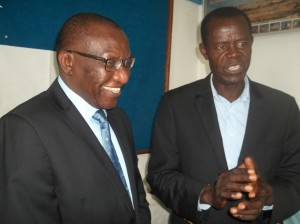 Power Changes hands. Prof Ngwafor (left) takes over from Prof Nyamndi