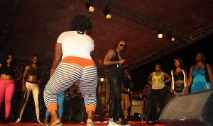 Flavour on stage in Douala