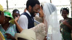 Lead characters  Chiwetel Ejiofor and Thandie  Newton share a kiss