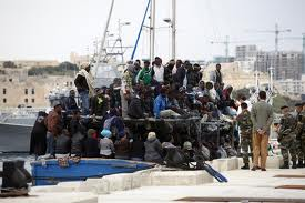 Cramped Migrants boats. Accidents waiting to happen