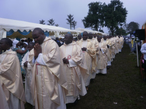 College of Priests March into ceremonial Ground