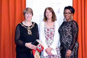 Lord Mayor Lynne Stag and Esther Enaw (R)