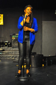 Belting a song during Cameroon Got talent 2013