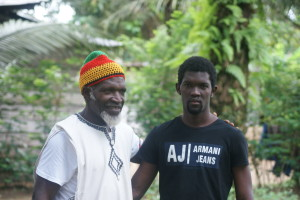 Mboua Massob and eldest son Massob. Son ready to step into dad's shoes