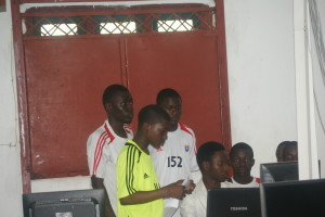 Students in School computer lab