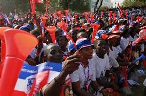 NPP party supporters