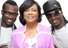 P Square and their late mother Mrs Josephine Okoye