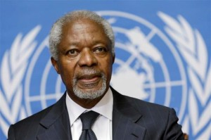 Kofi Annan. Friday's Child and one half of a twin
