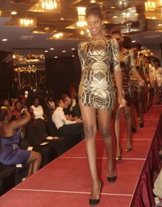 Natasha leads a catwalk at Miss Freedom-Zambia 2014