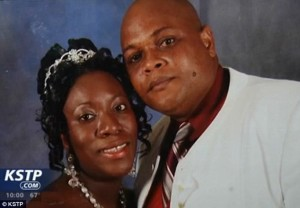 Patrick Sawyer, An Ebola victim with wife during his wedding in 2008