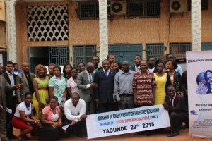 Participants pose for group picture in Yaounde